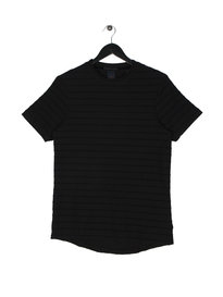Scotch & Soda Structured Crew Neck T-Shirt Black