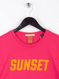 Scotch & Soda Summer Crewneck T-Shirt Pink