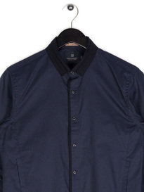Scotch & Soda Wool Collar Shirt Navy