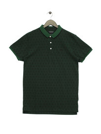 Scotch & Soda Two Tone Pique Polo Green