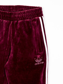 adidas Velour Trackpants Maroon