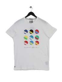 Weekend Offender Circle and Stripe T-shirt White