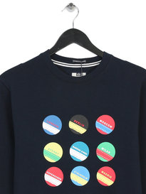 Weekend Offender Circles and Stripes Sweat Navy