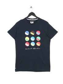 Weekend Offender Circles and Stripes T-shirt Navy