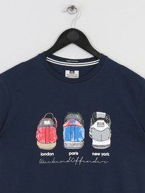 WEEKEND OFFENDER HEELS T SHIRT NAVY
