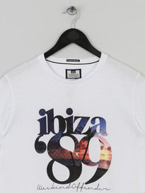 WEEKEND OFFENDER IBIZA 89 T SHIRT WHITE
