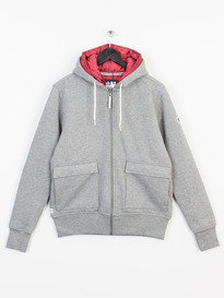 WEEKEND OFFENDER MATTERHORN ZIP UP HOODY DARK GREY