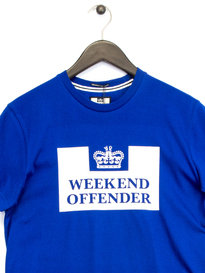 Weekend Offender Prison T-Shirt Blue