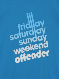WEEKEND OFFENDER SIXTY HOURS T SHIRT CYAN
