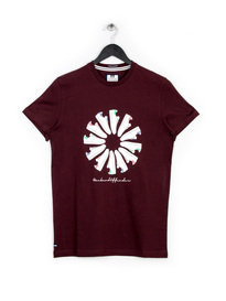 WEEKEND OFFENDER TRAINER WHEEL T-SHIRT BURGUNDY