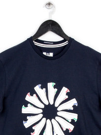 WEEKEND OFFENDER TRAINER WHEEL T-SHIRT NAVY