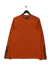 Y-3 3 Stripe Long Sleeve T-Shirt Orange