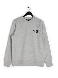 Y-3 Crew Sweater Grey