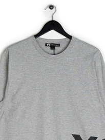 Y-3 LS Crew Neck T-Shirt Grey
