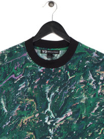 Y-3 M AOP J Short Sleeve T-Shirt Green