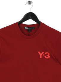 Y-3 M CL Short Sleeve T-Shirt Red