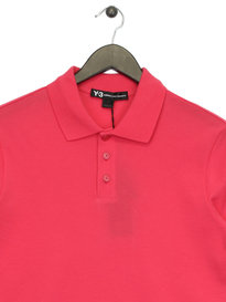 Y-3 Polo Short Sleeve Shirt Pink