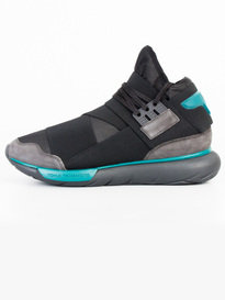 Y-3 QASA HIGH TRAINERS CHARCOAL GREY