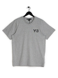 Y-3 SS Crew Neck T-Shirt Grey