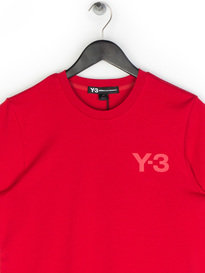 Y-3 SS Crew Neck T-Shirt Red