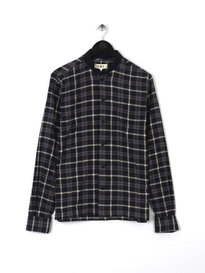 You Must Create P2Fai Rib Collar Shirt Navy