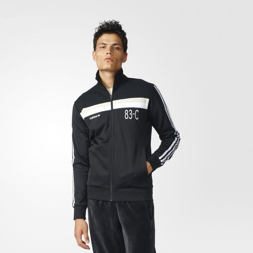 adidas 83 c. the 83-c collection contains classic adidas styling and iconic branding throughout, from three stripe detailing on sleeve to trefoil logo 83 c